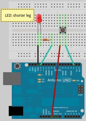 hook up button arduino Building a simple arduino robot   we used 22 gauge hook up wire in this guide because it's a little  push button switches are a great way to add user input.