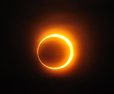 [Solar annular eclipse of January 15, 2010 in Jinan, Republic of China, by A013231 on Wikimedia Commons.]
