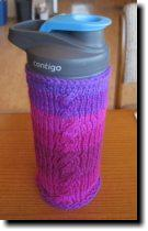 [knitted water bottle cozy]