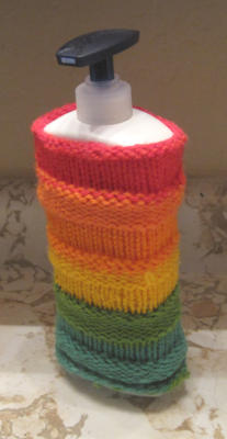 [Knit water bottle/hand lotion cozy]