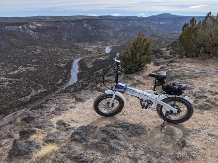 [Lectric XP above White Rock Canyon]