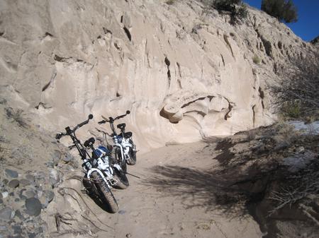 [Lectric XP ebike in an arroyo off the Window Rock Trail]