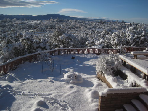 [Sunny New Mexican snow world]