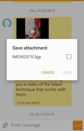 [Saving an MMS video on Android]