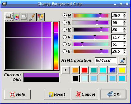 [GIMP color chooser]