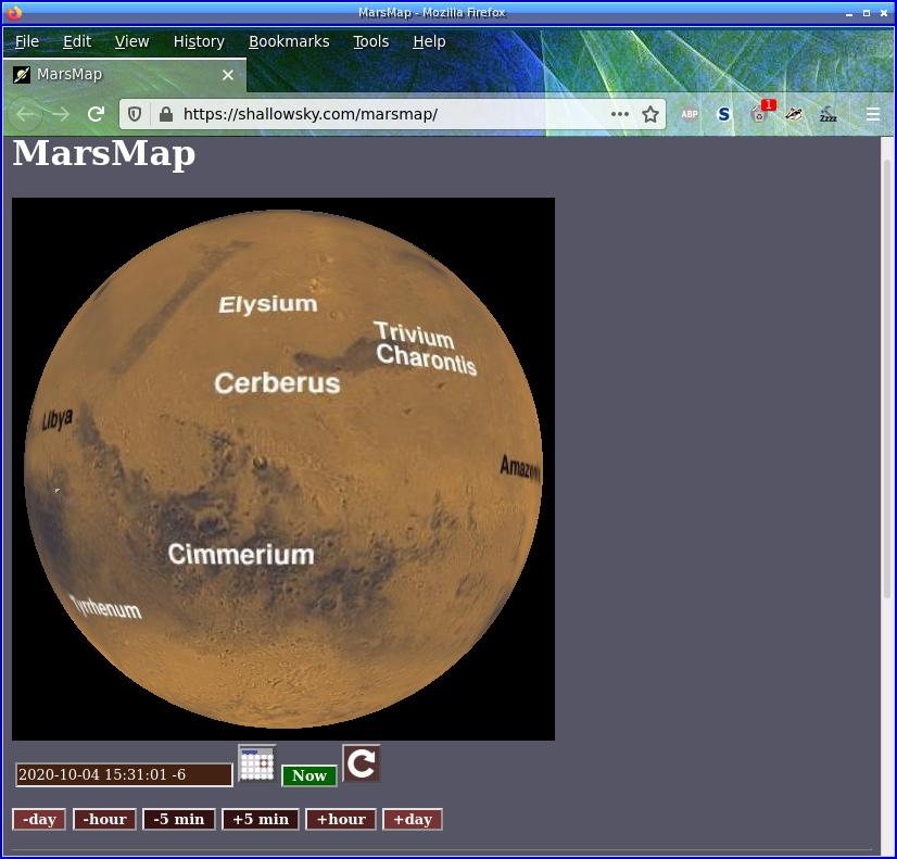 [MarsMap screenshot]