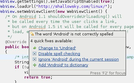 [The word 'Android' is not correctly spelled. Change to 'Undried'?]