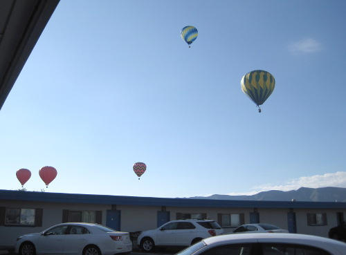 [Hot-air balloons in Cortez, CO]