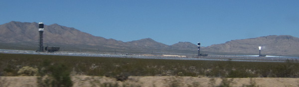 [All three Ivanpah solar collectors]