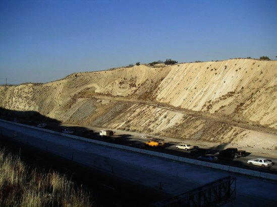 Palmdale: the San Andreas Fault