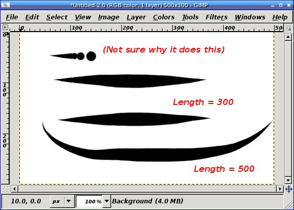 Drawing Smooth Lines In Gimp : Gimp tutorial tapered lines