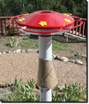 [Satellite-dish feeders fit on a PVC pipe]