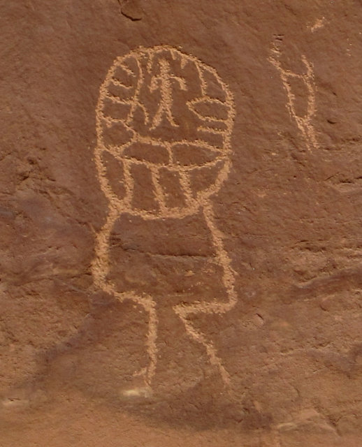 [Brain main? petroglyph at Sand Island]