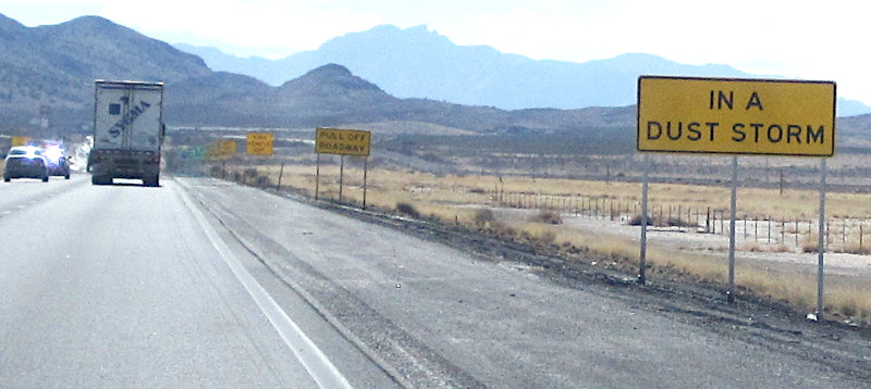[NM Burma Shave dust storm signs]