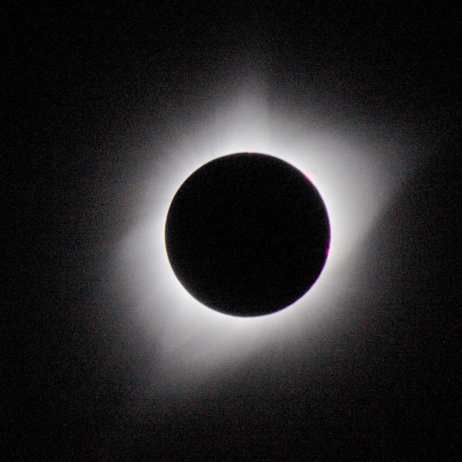 [2017 Solar eclipse with corona]