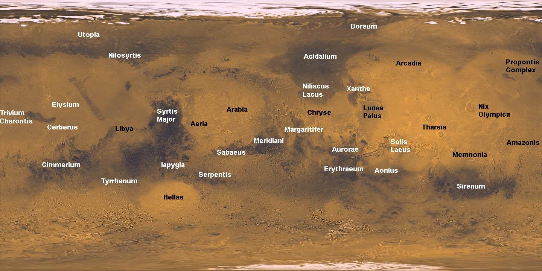 mars planet map hi res - photo #10
