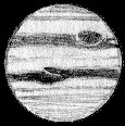 [Jupiter with white intrusion into NEB]