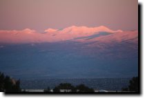 [Sunset light on the Sangre de Cristos]
