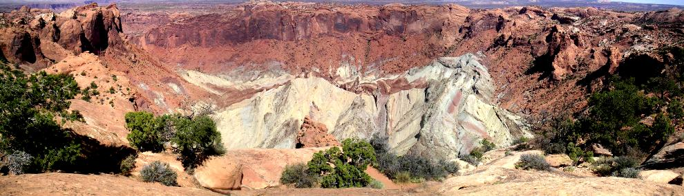 [Panorama of Upheaval Dome impact crater]