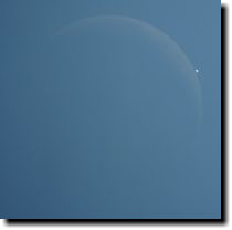 [Daytime Venus occultation]