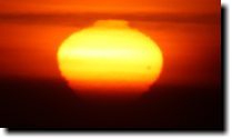 [Venus transit at sunset]