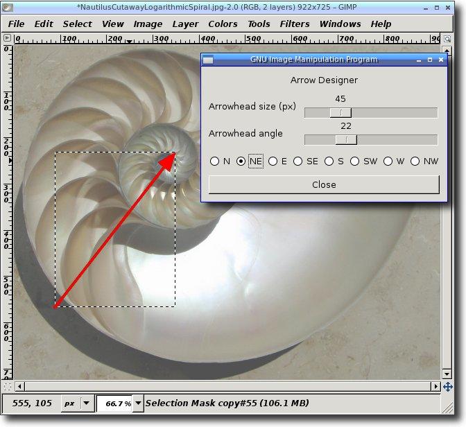 Drawing Lines With Gimp : Gimp arrow designer