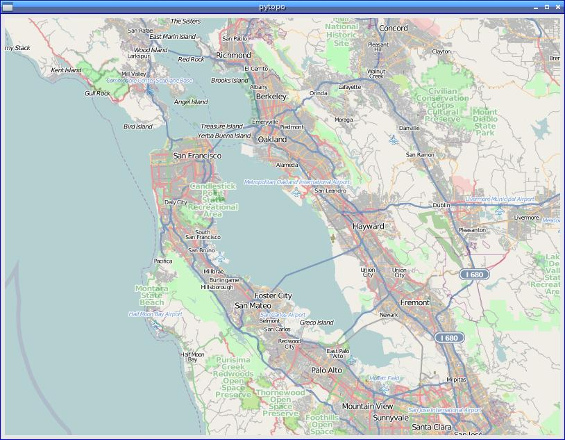 Pytopo open source tiled map viewer san franciscoopenstreetmap screenshot sciox Gallery